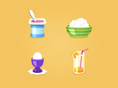 Breakfast illustration icons breakfast