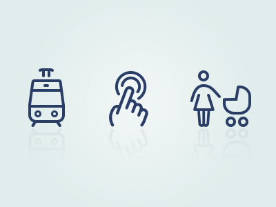 Transportation icons transport design pictograms icons