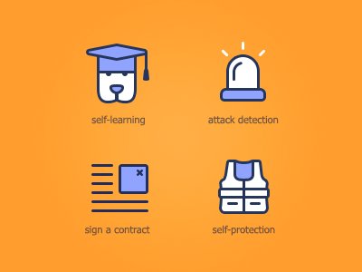 Spam Terrier pictograms icons