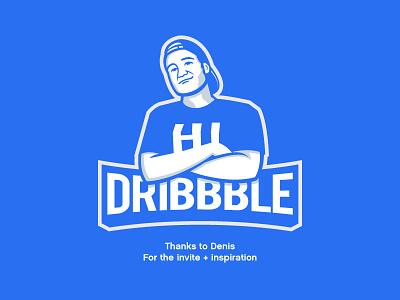 Hello Dribbble! logotype logo identity branding graphic design