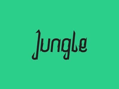 Jungle logotype lettering typeface custom type logo logotype