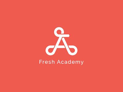 Fresh Academy logo agriculture education school branding graphic design monogram logotype logo