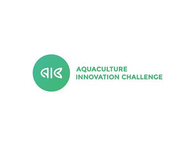 Aquaculture Innovation Challenge logo innovation challenge fish aquaculture branding graphic design logotype logo