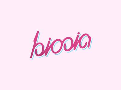 Biosia lettering lettering typeface custom type logo logotype