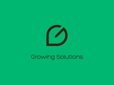 Growing Solutions logo simplicity agriculture inputs branding graphic design logotype logo