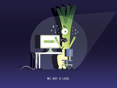 We got a leek brush photoshop illustration