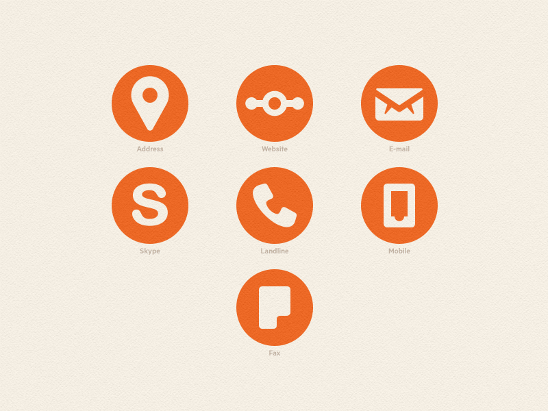 Business Cards Icons by Octavian Arnaut - Dribbble