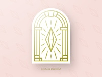 Shining Golden Diamond