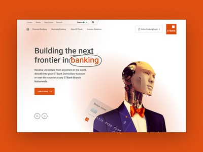 GTBank Website Concept africa african nativebrands lagos dribbble figma app vector web website landing page nigerian banking bank gtbank ux uiux ui design nigeria