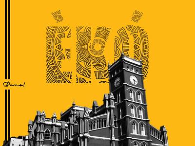Lagos, Nigeria typography print eko culture creative yellow illustration design naija nigeria lagos