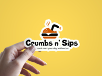 Sticker for Crumbs n' Sips