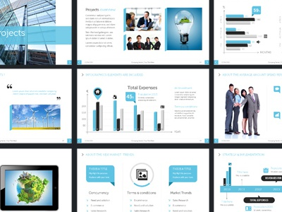 Flat design inspired powerpoint presentation by franceschi rene preview behance toneelgroepblik Images