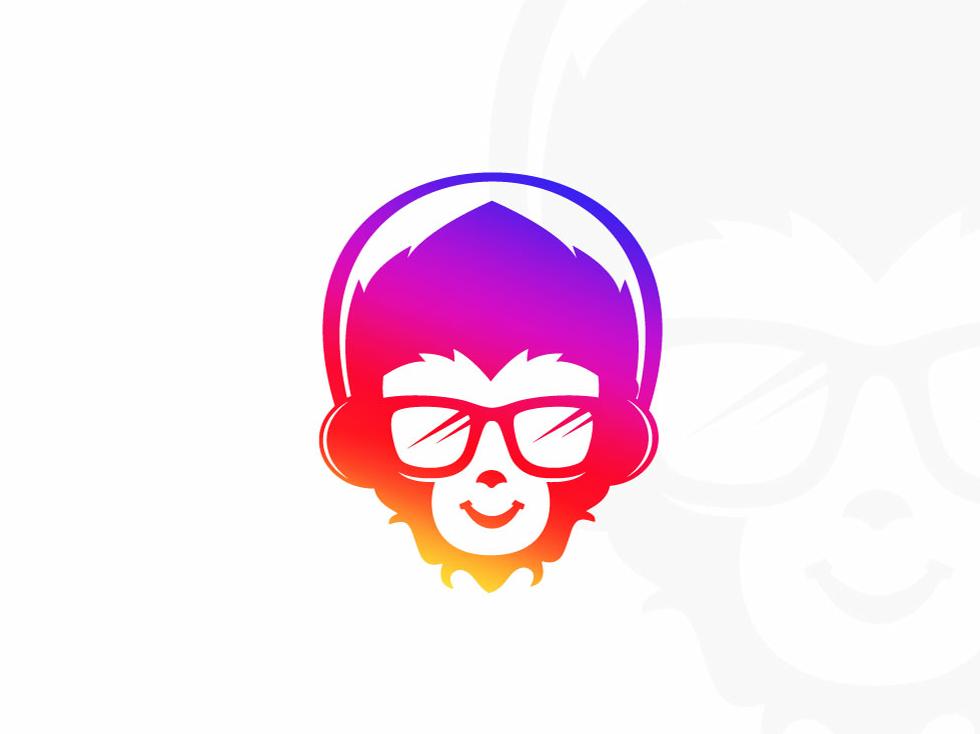 Music Monkey Logo. icon top2019 smartlogo symbol photoshop flat mark brand print illustrator vector logo design