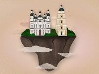 Architecture flat illustration