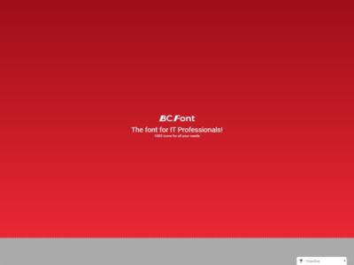 BC-Font new website font icon set website