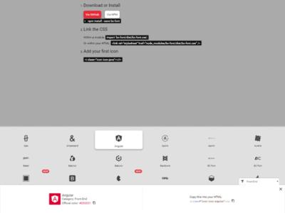 BC-Font new website - Details font icon set website