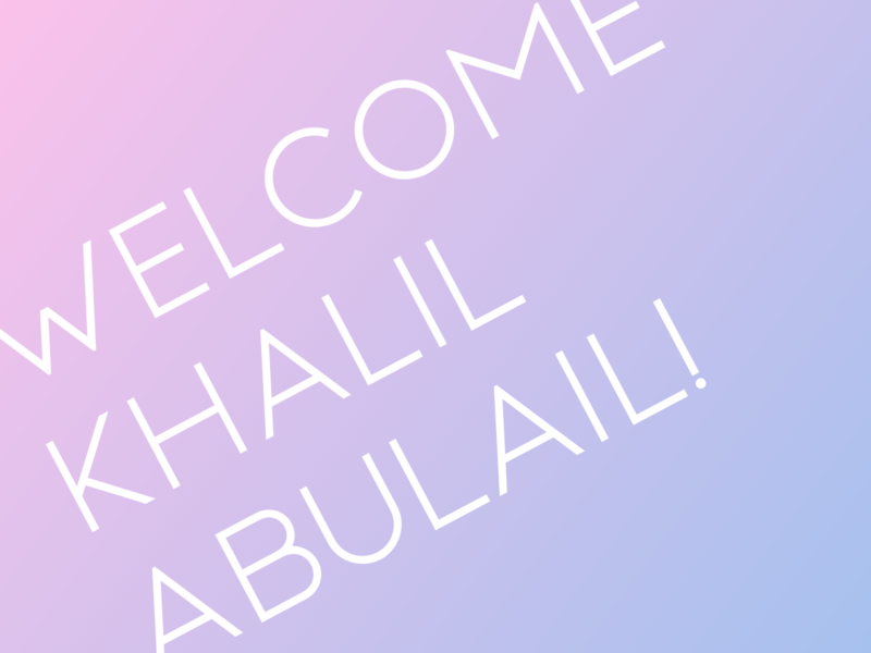 Welcome Khalil Abulail!