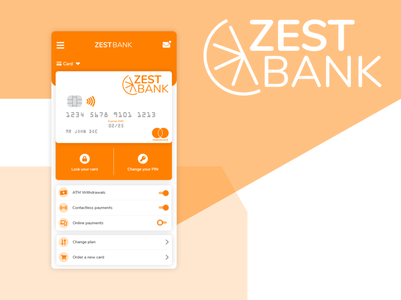 Zest Bank - Mobile App Concept