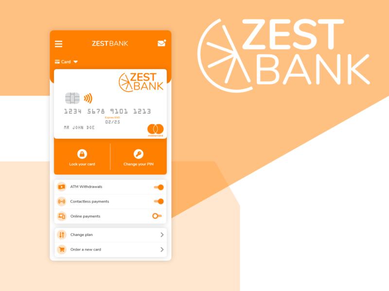 Zest Bank - Mobile App Concept bank bank app card ui adobexd mobile app mobile ui mobile