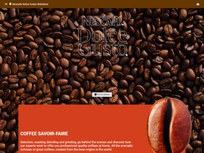 Nescafe Dolce Gusto Webstore ecommerce bean website webstore dolce gusto nescafe coffee