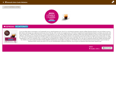 Nescafe Dolce Gusto Webstore - Product coffee nescafe dolce gusto webstore website bean ecommerce