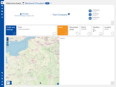 LogTrack -  Dashboard map website ui dashboard logistics