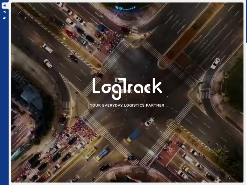 LogTrack - Home website logistics branding logo ui saas video