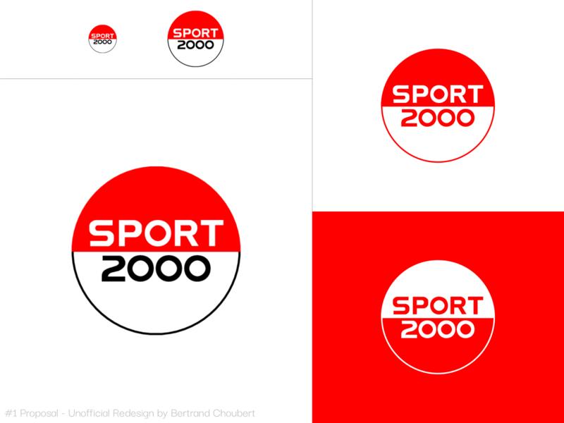 Sport 2000 Unofficial Redesign #1 sportswear sports illustration design vector adobexd branding graphic logo rebranding sport