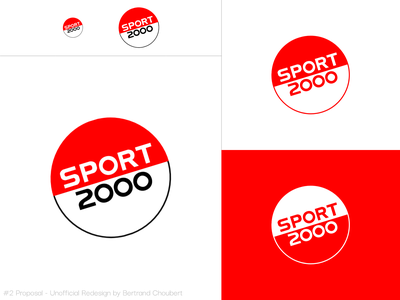 Sport 2000 Unofficial Redesign #2 sportswear sports illustration logodesign vector adobexd sports branding graphic logo rebranding sport