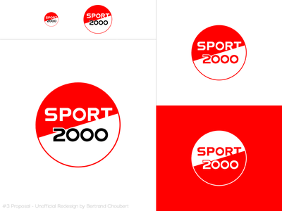 Sport 2000 Unofficial Redesign #3 sportswear sports illustration design vector adobexd branding graphic logo rebranding sport