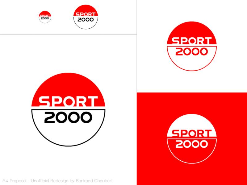 Sport 2000 Unofficial Redesign #4 sportswear sports illustration design vector adobexd branding graphic logo rebranding sport