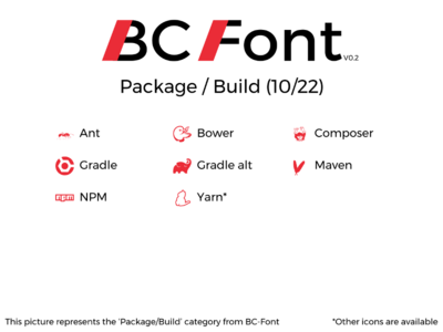 BC-Font : Package & Build