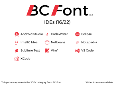 BC-Font : IDEs
