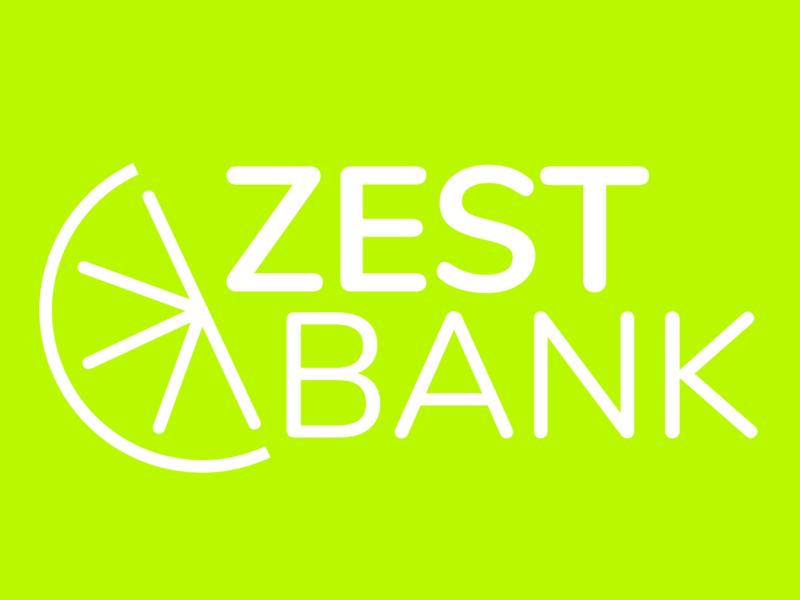 Zest Bank Branding Concept - Lemon Green logo branding adobexd