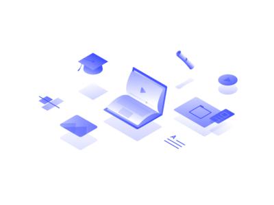 Webflow University course learn design web videos new illo university illustration webflow