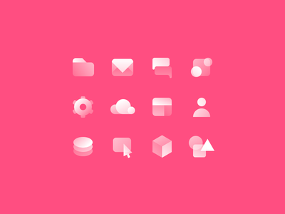 Webflow Icons illustration illo tag frosty gradients webflow icons