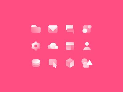 Webflow Icons illustration illo tag frosty gradients webflow icons