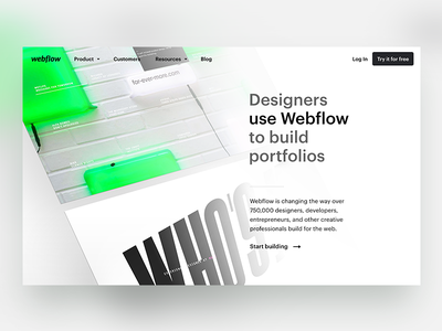 Webflow Customers case study website animation designers design web customers webflow