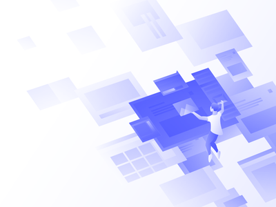 Hero illustration (coming soon) gradient design web webflow illustration illo