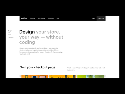 Webflow Ecommerce — Design very cool stuff design animation web design web webflow