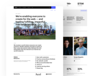 About photo about page web design webflow