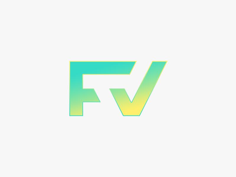 FV Monogram Logo Design f letter v letter logo design grid letter minimalistic logo design vector illustrator