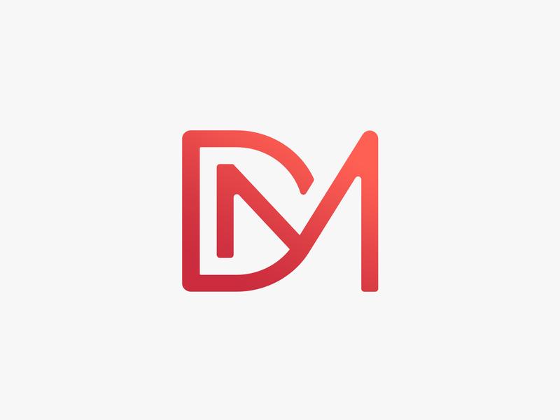 DM Monogram Logo Design m letter d letter logo design grid simple letter minimalistic logo design vector illustrator