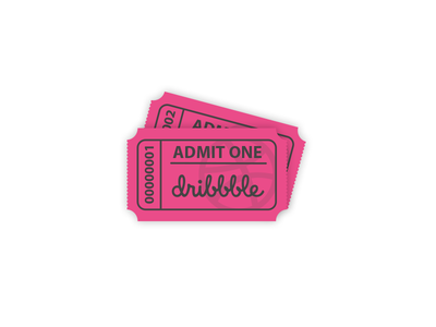 2 Dribbble Invites Giveaway invitation dribbble illustrator vector tickets invites invites giveaway