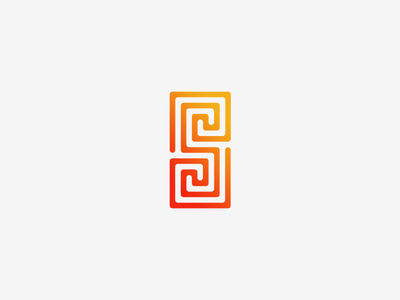S Logo Design simple minimalistic vector illustrator grid maze s letter design logo