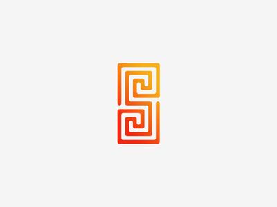 S Logo Design simple minimalistic vector illustrator grid maze s letter design logo