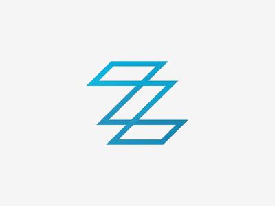 ZZ Monogram Logo Design design logo simple minimalistic type z letter monogram grid vector illustrator