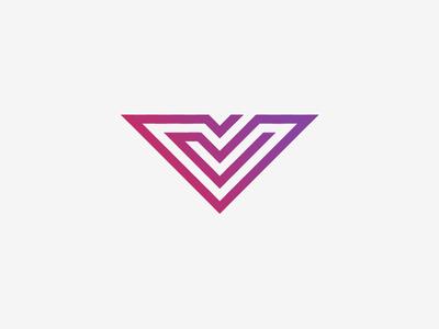 V Logo Design letter v letter design  front-end  back-end logo illustrator design type grid simple minimalistic vector