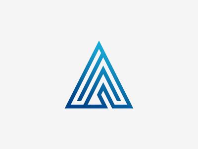 A Logo Design lettermark branding a letter blue logo design type letter grid simple minimalistic logo design vector illustrator