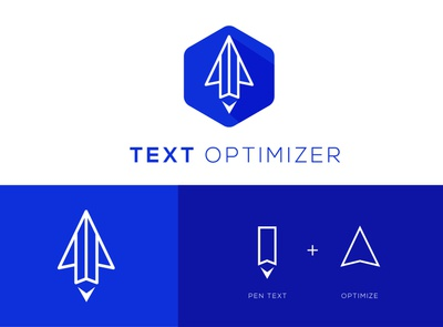 Text optimizer tool to optimize user's text company logo